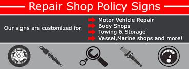 Automotive Service Signs