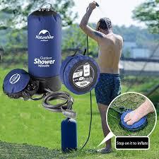 <b>Naturehike</b> 11L Pvc <b>Outdoor</b> Inflatable Shower Pressure Shower ...