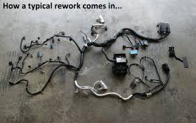ls wiring harness and ecm ls image wiring diagram lsx wiring harness rework on ls wiring harness and ecm