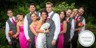 Bridal party pose  Hot Pink ...