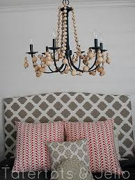 fancy chandelier ideas to beautify the interior diy beachy wood bead chandelier