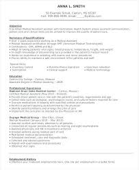 Medical Technologist Resume – Foodcity.me
