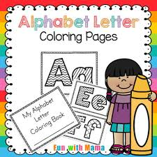 Alphabet & phonics (skill builders for young learners). Alphabet Coloring Book Worksheets Teaching Resources Tpt