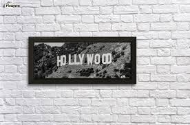 the hollywood sign wall decor frame