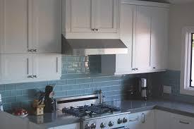 kitchen blue glass backsplash. 79 Most Hunky-dory Appealing Blue Glass Backsplash For Kitchen With Glossy Surface And Modern Stovetop Appliances Backsplashes Kitchens Black Subway Tile I