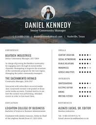 Canva Resume Adorable Universal Community Manager Resume Templates By Canva