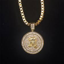 micro yesus wajah pendant kalung ran untuk pria kualitas tinggi zinc alloy iced out hip hop bling bling jewelry 30 link ran di liontin kalung dari