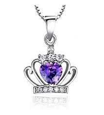 sephla my princess heart shape crystal princess crown pendant necklace c012dr6lgnp