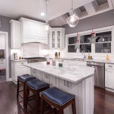 ice white shaker stock kitchen cabinets design by forevermark