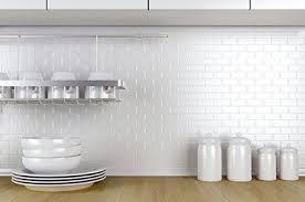 white kitchen wall tiles. Toto Brick Mosaic Tiles White Kitchen Wall K