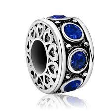 september birthstone charm blue crystal bead pandora jewelry bracelet gift women