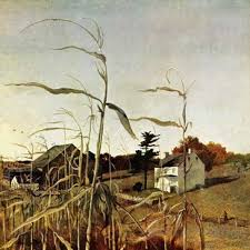 Autumn Cornfield By Andrew Wyeth Painting Print On Wrapped Canvas