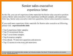 12+ Experience Letter Sample For Sales Executive | Pennart ...