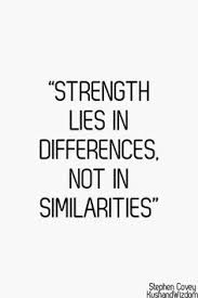 Quotes About Strength In Hard Times Awesome Strength Lies In Differences Not In Similarities Steven R Covey