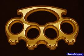 Wooden Knuckles How To Draw Brass Knuckles Brass Knuckles Step By Step Other