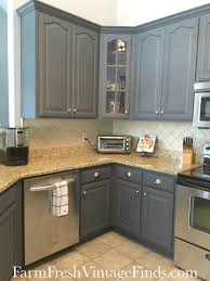 Grey Cabinets Kitchen Painted General Finishes Queenstown Gray Milk Paint Grey Cabinets Grey