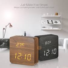digoo dg ac1 wooden led digital alarm clock multifunctional 2 mode display time thermometer