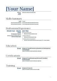 How To Make A Resume Template Beauteous Best Job Resume Templates 28 Resume Template Job Resume Templates