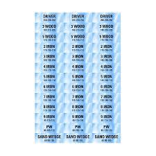 Golf Club Distance Chart Labels Mens Labelvalue Com