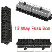 12 way standard blade block fuse box kit car boat marine fuse box image is loading 12 way standard blade block fuse box kit