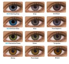 Freshlook Color Chart For Dark Eyes Colored Contacts For Brown Eyes Updated November 2019