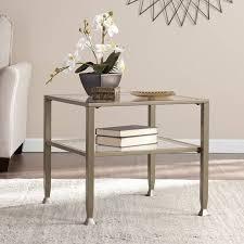 bunching coffee tables. Southern Enterprises Lana Metal/Glass Bunching Coffee Table, Matte Khaki Tables
