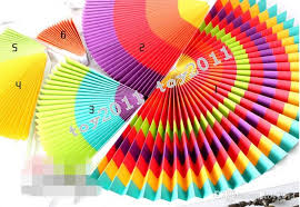 six assorted paper fan decorations great for fiestas cinco de mayo and other celebrations southwest designs on sy pleated paper discs attached to