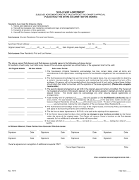 Apartment Sublease Template 40 Professional Sublease Agreement Templates Forms Template Lab