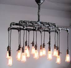 diy pipe lighting. industrial pipe chandalier diy lighting a