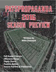 Patspropaganda 2016 Patriots Season Preview Book Patspropaganda