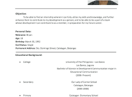 Student Sample Resumes Resume Samples For College Students Graduate ...