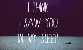 You In My Dreams Quotes Best Of I Think I Saw You In My Sleep Dream Quote Dream Quotes