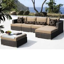 Niko 8piece Patio Deep Seating Modular Sectional By Sirio Niko Outdoor Furniture