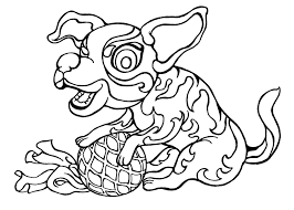 Year Of The Dog Free Colouring
