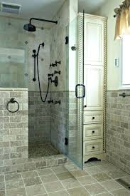 showers with half wall half wall shower glass walk in showers that add a touch of