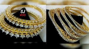 Diamond Bangles Designs Images American Diamonds Bangles Designs 2018 Latest Bangles Designs Gold Bangles Designs 2018 19