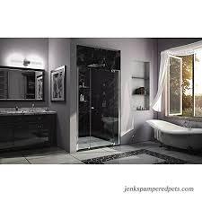 dreamline allure 42 43 in w x 73 in h frameless pivot shower door in chrome