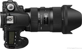 sigma 18 35mm f 1 8 dc hsm art lens top view with hood