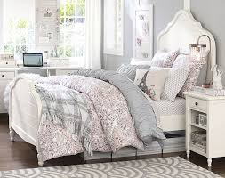 beds for teen girls. Exellent Girls Soft Grey Soft Pink White Color Scheme Teenage Girl Bedroom Ideas   Whimsy PBteen In Beds For Teen Girls E