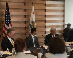 congressman mike honda discusses with hud secretary julian castro and county supervisor board president dave cortese