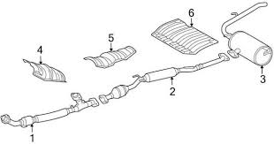 how to repair toyota sienna rear exhaust heat shield rattle 2004 2010 toyota sienna exhaust system diagram