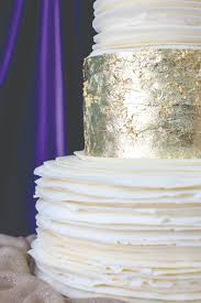 Up Close Wedding Cake From Magnolia Bakery