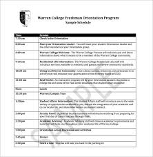 Employee Orientation Template 10 Orientation Schedule Templates Samples Doc Pdf Free