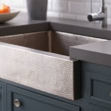 paragon brushed nickel farmhouse sink native trails hammered kitchen reviews undermount sink full size