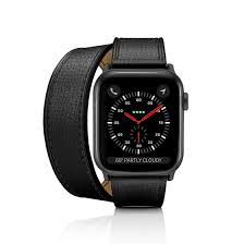2 in 1 italian leather watch band kit black double tour single strap apple watch 38mm 40mm casetify