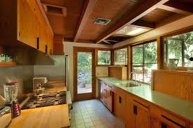 mid century modern galley kitchen. Mid Century Modern Galley Kitchen Original Was Preserved With Only Small Changes