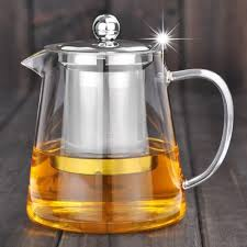 good clear borosilicate glass teapot with 304 stainless steel infuser strainer heat green tea pot tool kettle set in teapots from home f8dvjgc7