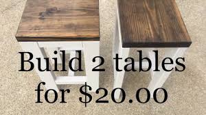 end tables living room. DIY | How To Make 2 Tables For $20.00 Living Room End O
