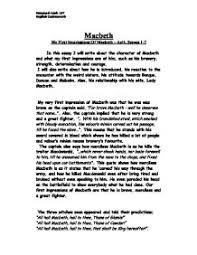 macbeth character analysis gcse english marked by teachers com page 1 zoom in