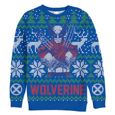 Double tap to zoom Marvel Mens - X-Men Wolverine Ugly Christmas Sweater Pattern